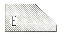 Фреза алмазная профильная E-20 гранит/мрамор (#30/40) вакуумное спекание Diam-S - фото 4749