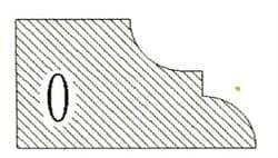 Фреза алмазная профильная O-20 гранит/мрамор (#30/40) вакуумное спекание Diam-S - фото 4787