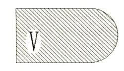 Фреза алмазная профильная V гранит/мрамор вакуумное спекание Diam-S - фото 4799