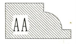 Фреза алмазная профильная AA-20 гранит (#30/40) спечная Diam-S - фото 4808