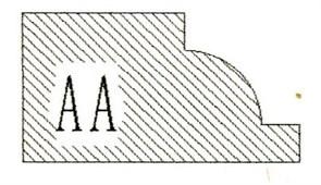 Фреза алмазная профильная AA-20 гранит/мрамор (#30/40) вакуумное спекание Diam-S
