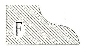 Фреза алмазная профильная F-20 гранит/мрамор (#30/40) вакуумное спекание Diam-S
