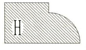 Фреза алмазная профильная H-20 гранит/мрамор (#30/40) вакуумное спекание Diam-S