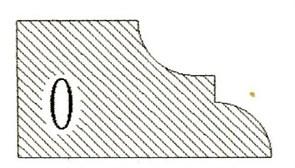 Фреза алмазная профильная O-20 гранит/мрамор (#30/40) вакуумное спекание Diam-S