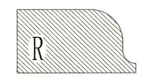 Фреза алмазная профильная R-20 гранит/мрамор (#30/40) вакуумное спекание Diam-S