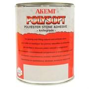 Клей для мрамора Polysoft кремообразный AKEMI белый, 1 л (10151)