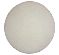 Круг войлочный FIB Ø 425х20мм velcro белый (синтетика)
